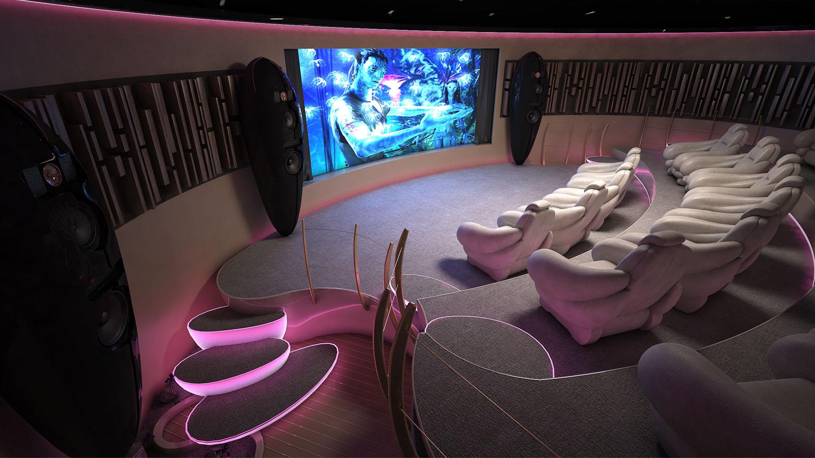 Sala de cine en una casa