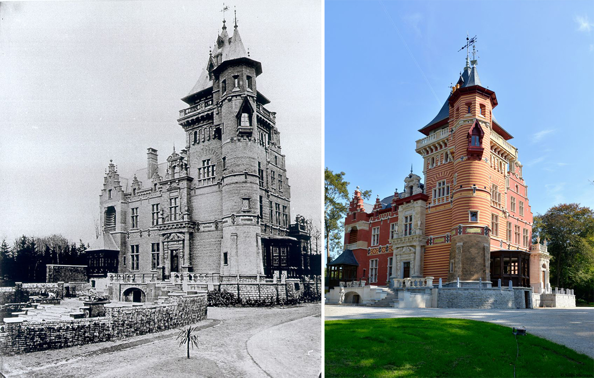El castillo antes y después de la reforma