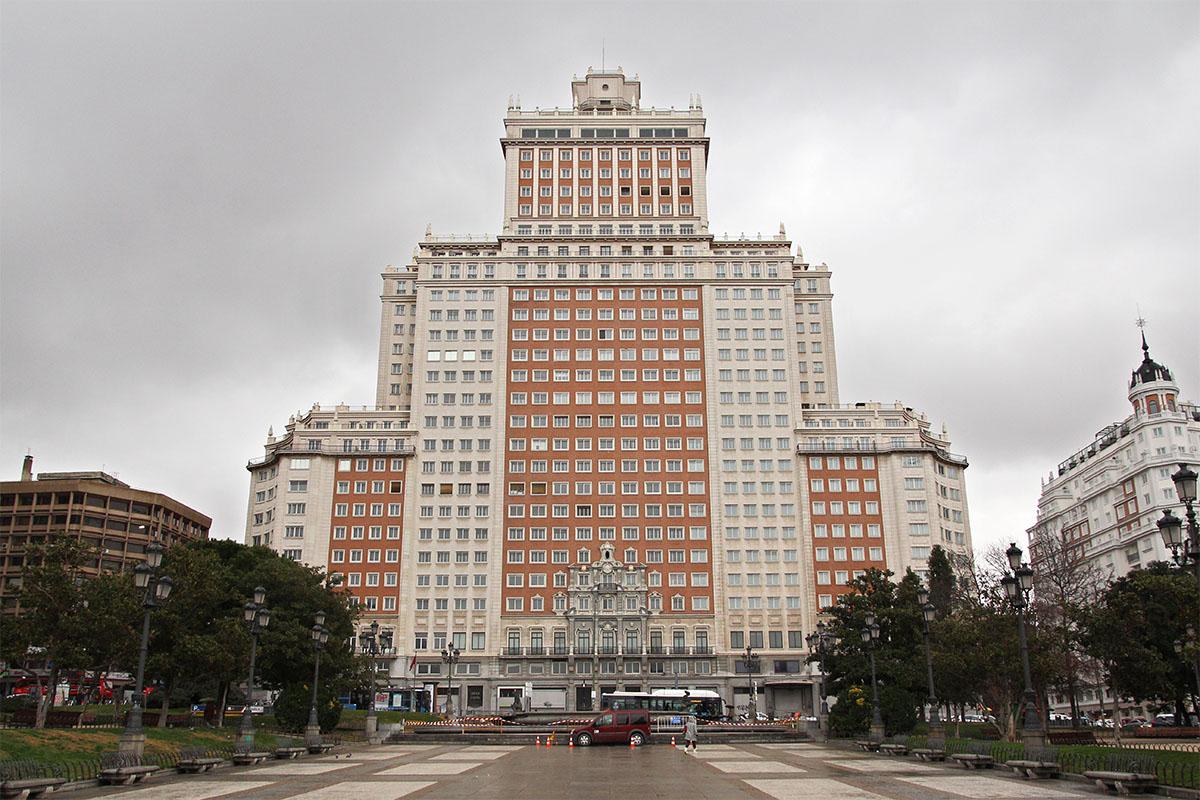La fachada del Edificio España