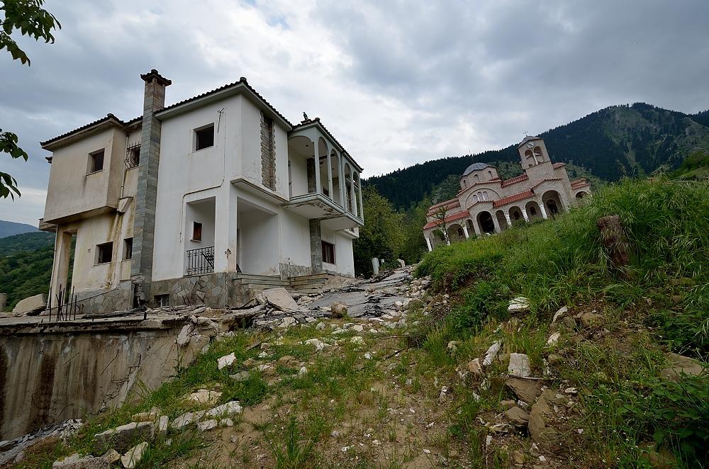 El edificio abandonado en Grecia