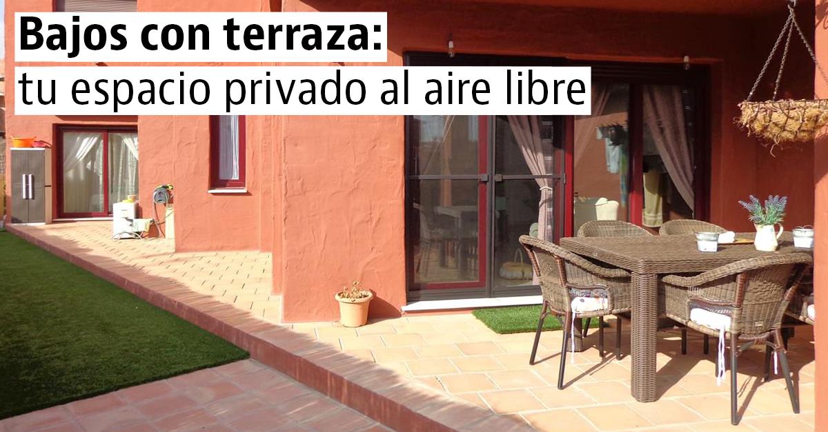 Bajos con terraza econ micos y llenos de ventajas for Pisos bajos con jardin