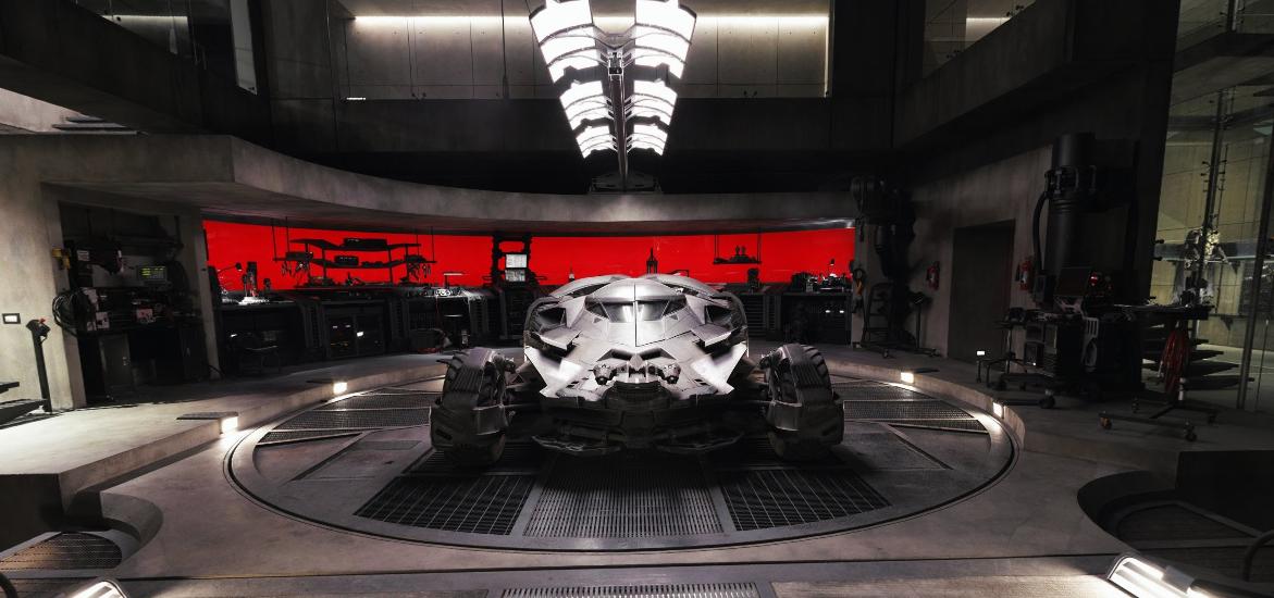 El garaje de la cueva de Batman