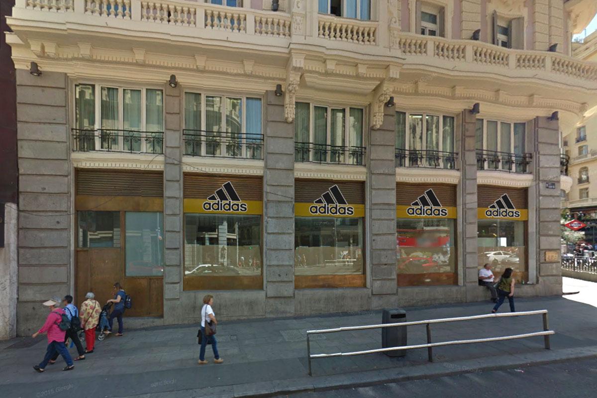 Tienda Adidas en la Gran Vía de Madrid