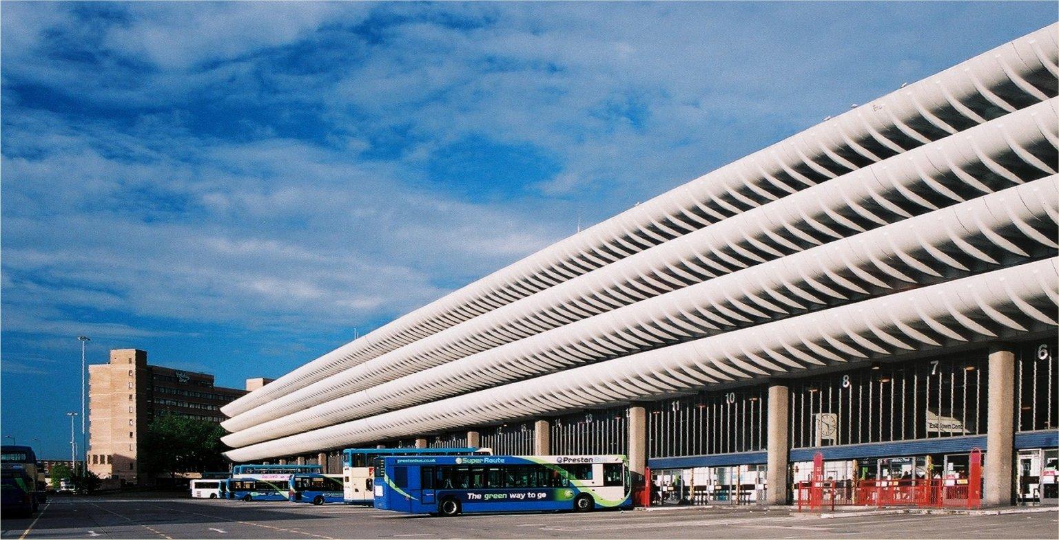 Preston Bus Station (Lancashire, Inglaterra). Building Design Partnership