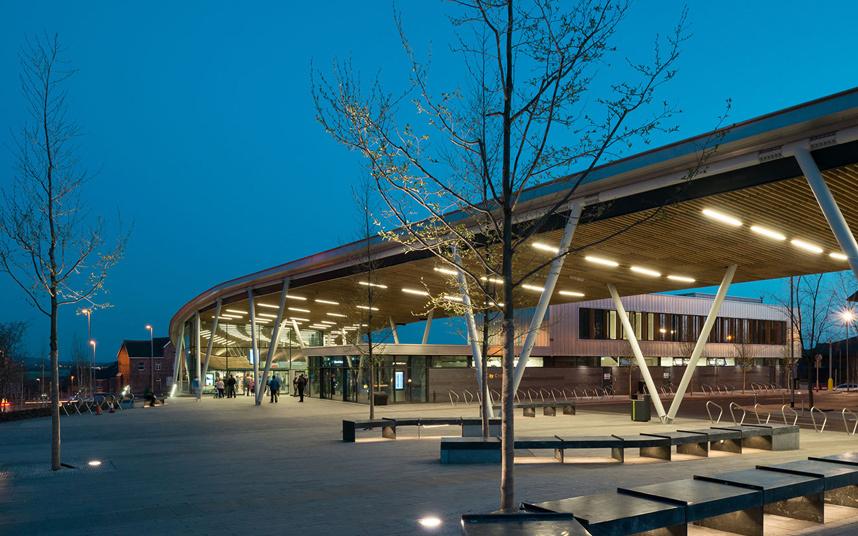 Estación central en Stoke-on-Trent, (Staffordshire, Inglaterra) Grimshaw Architects