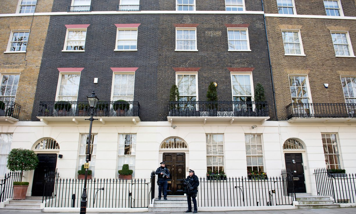 Casa en Connaught Square, Londres (valorado en 8,63 millones de libras). The Guardian