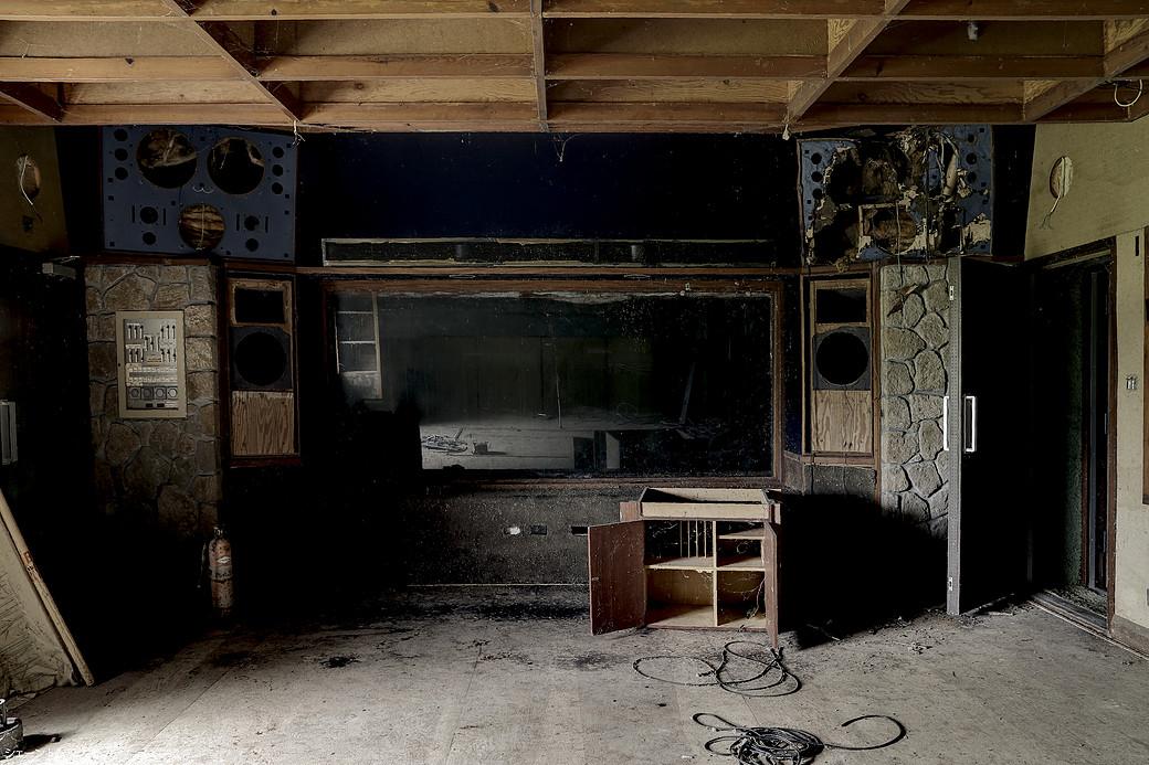 El estudio de grabación en el Caribe