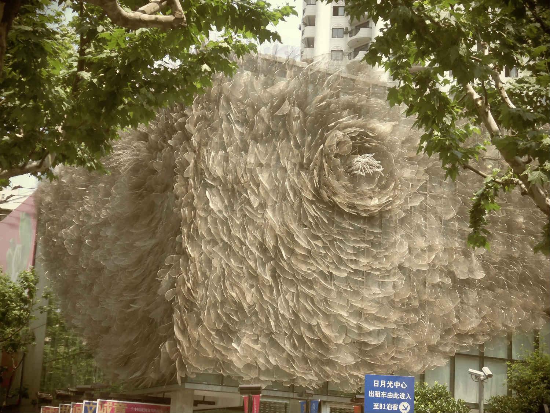 Un edificio monstruoso construido en China