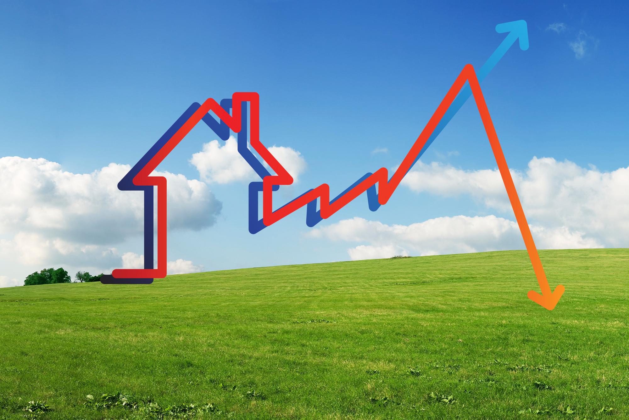 El precio de la vivienda termina febrero en números rojos: cae un 0,9%