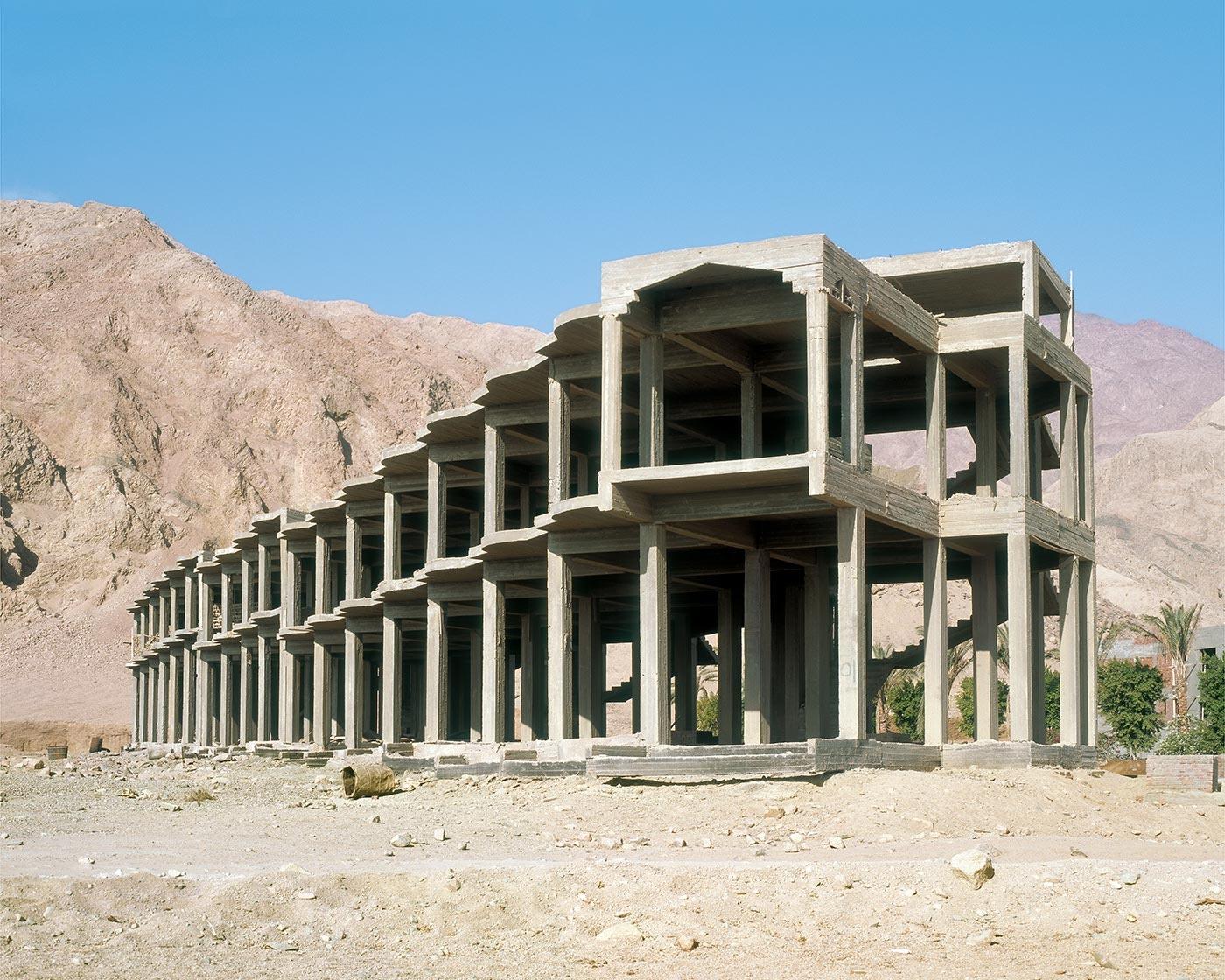 El hotel en el desierto en Egipto