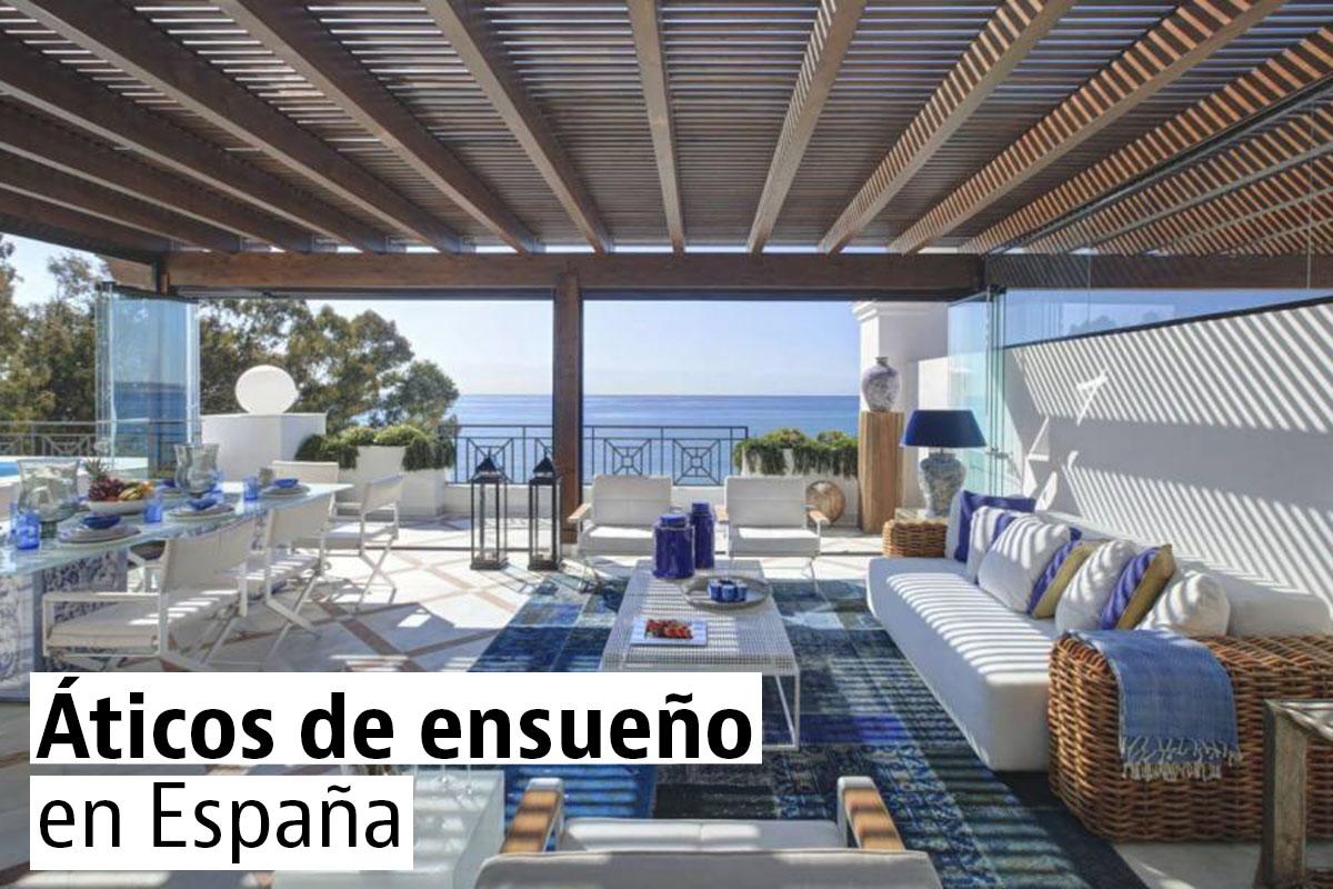 Los 20 áticos en venta más espectaculares de España (tabla)