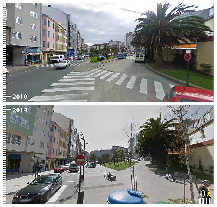 El antes y despu s de las calles espa olas los proyectos for Idealista puertas verdes