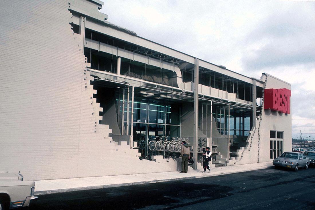 la fachada en ruinas u miami florida eeuu