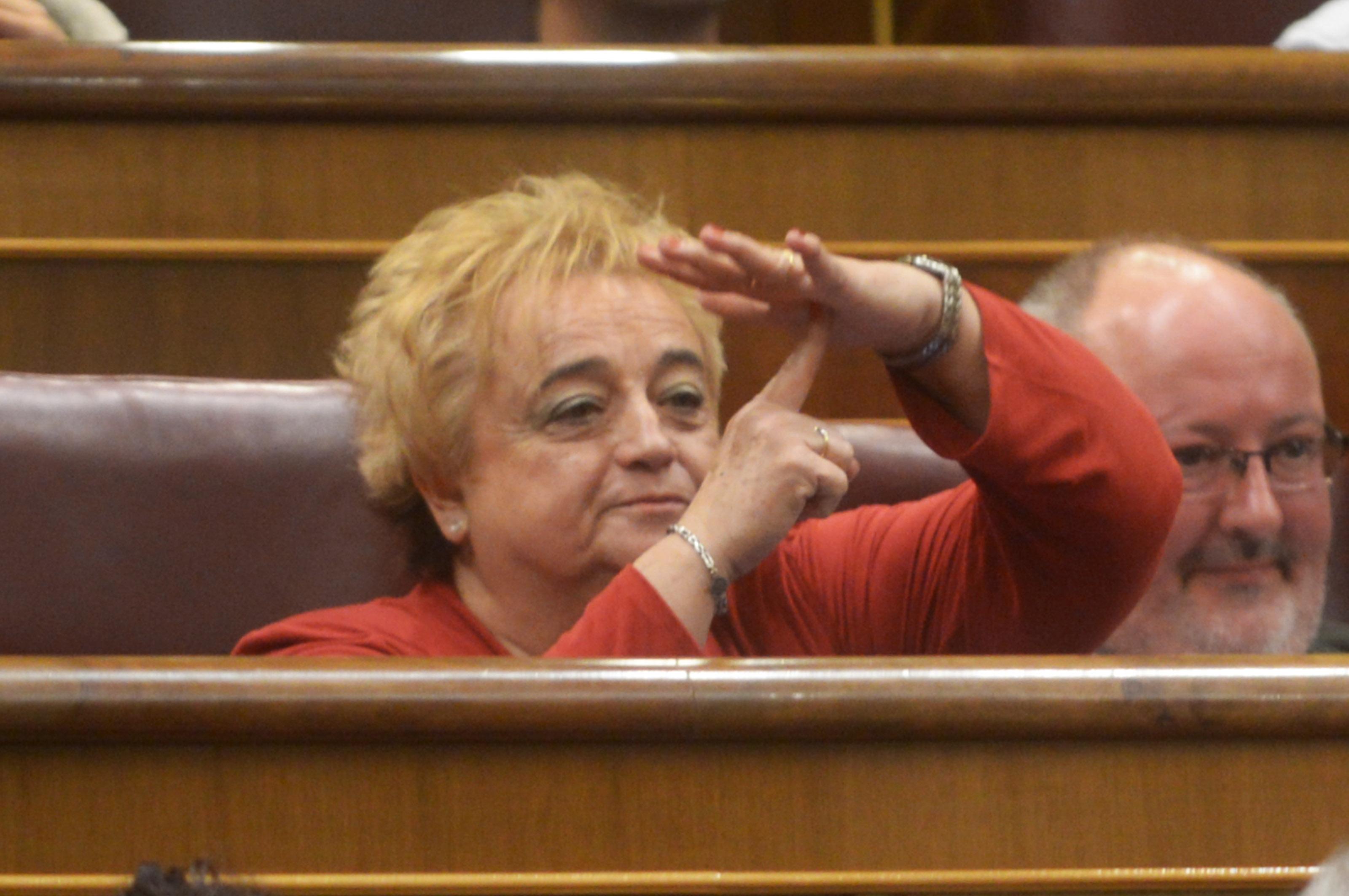 Una diputada, en el debate de investidura celebrado el 4 de marzo