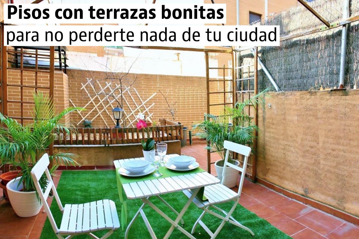 Pisos con terraza en Barcelona, Madrid y otras ciudades de España