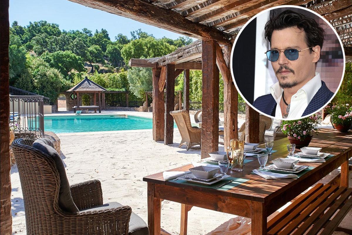Johnny Depp vende su pueblo francés por 50 millones… el doble de lo que pedía hace un año