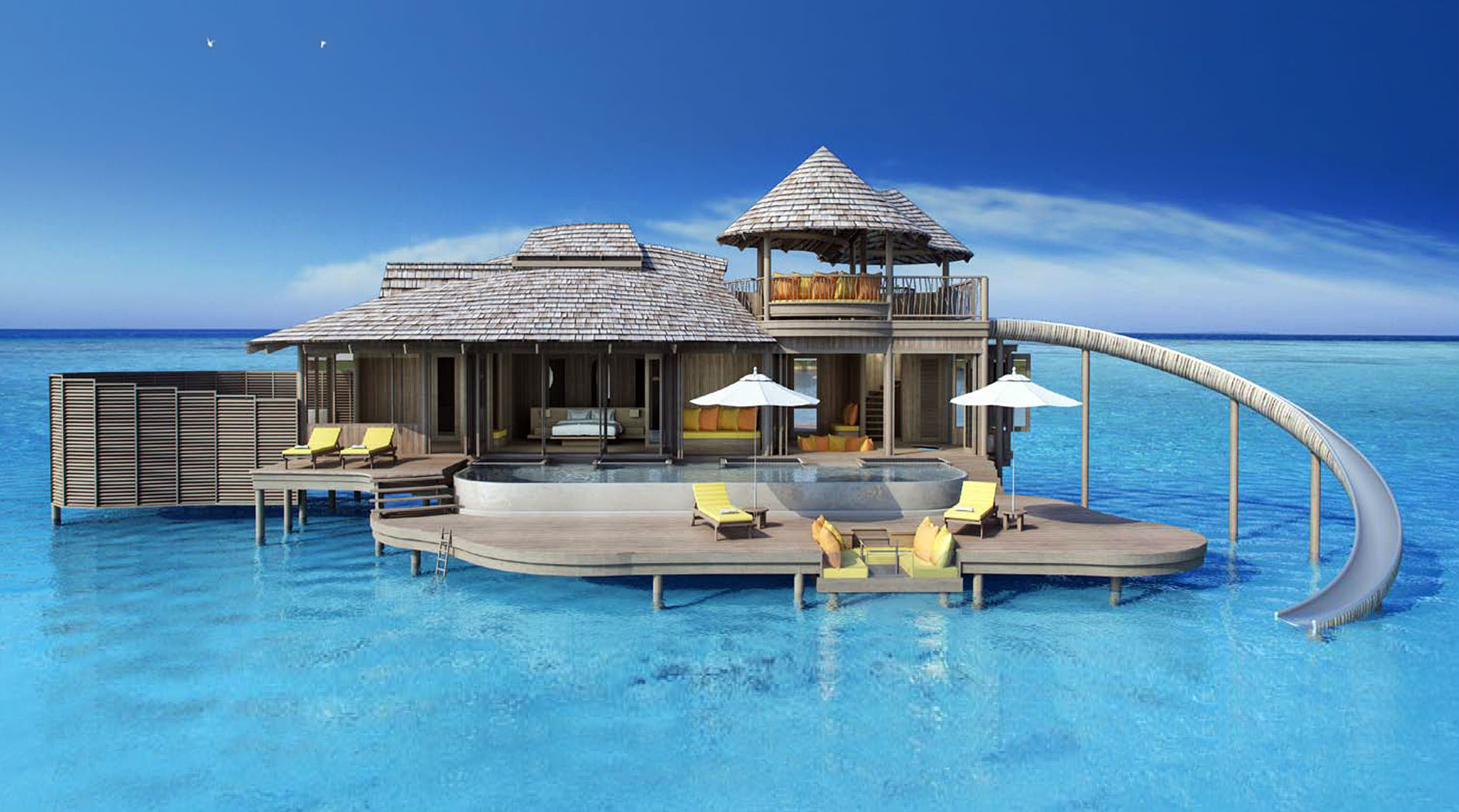 De la cama al agua en tobog n as ser el hotel de lujo for Hoteles de lujo en vitoria