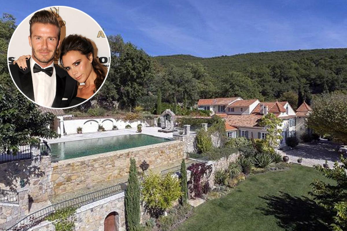 Los Beckham ponen a la venta su mansión en la Costa Azul… y perderán más de 4 millones de euros