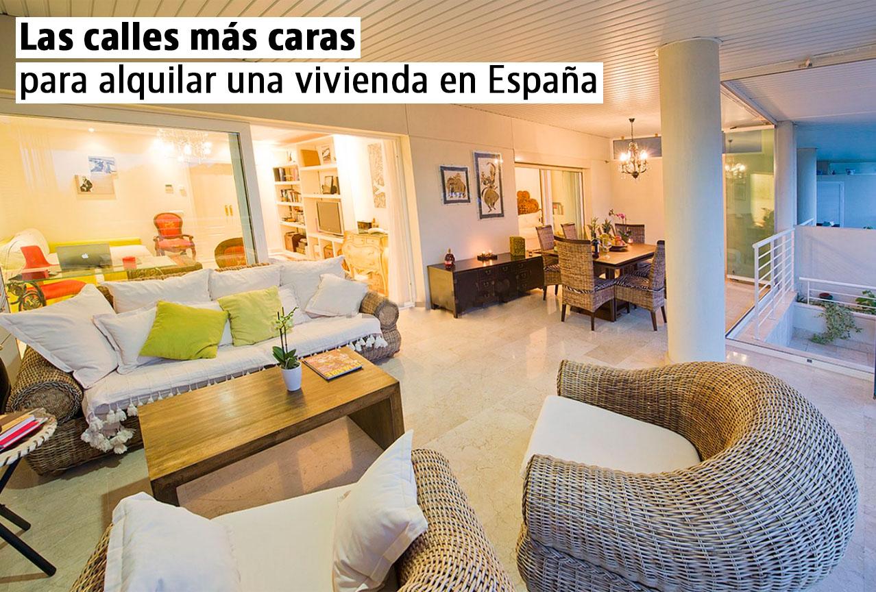 Descubre las calles más caras para alquilar una vivienda en España