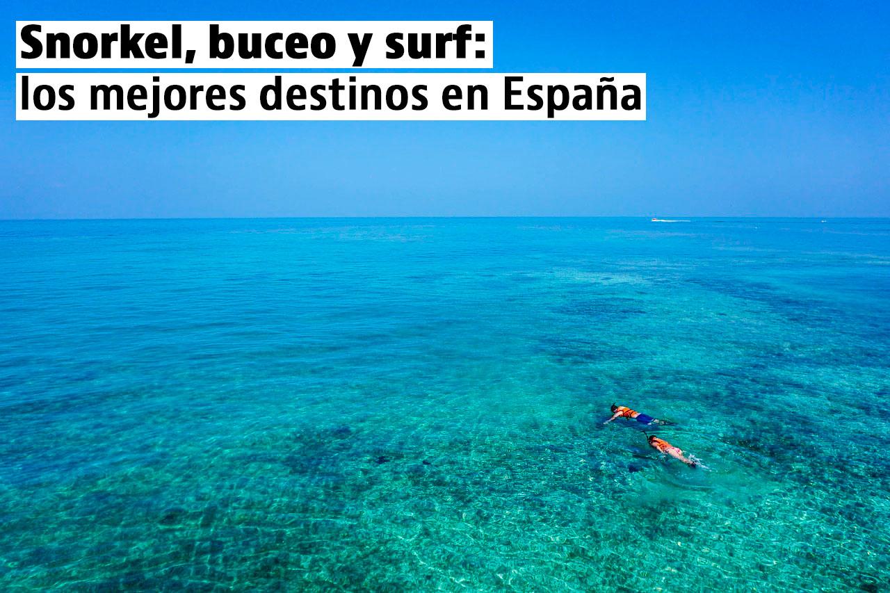Las mejores playas en España para surfear, practicar buceo y snorkel