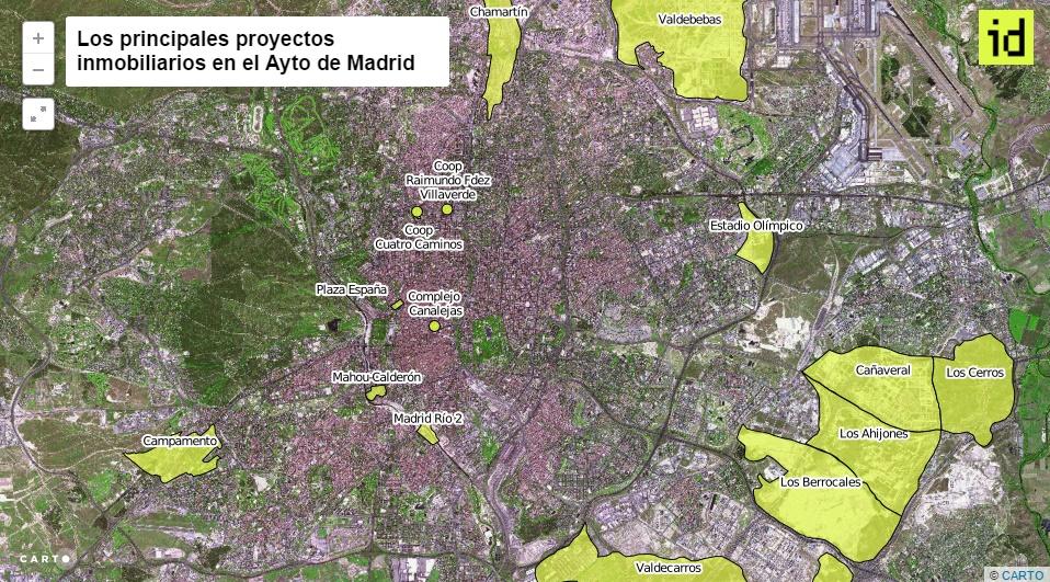 Mapa de los enredos urbansticos de Carmena  idealistanews