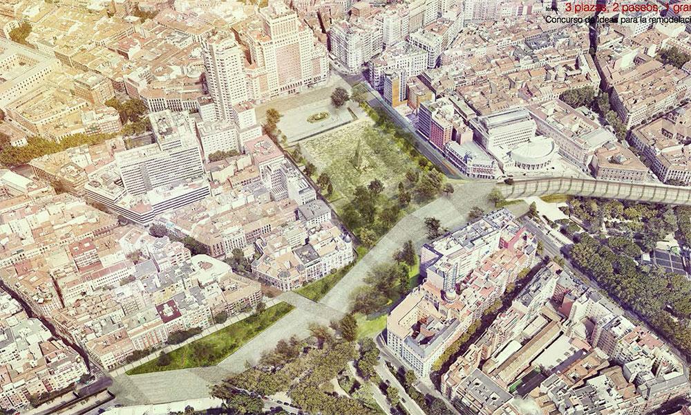 Proyecto '3 plazas, 2 paseos, 1 gran parque'
