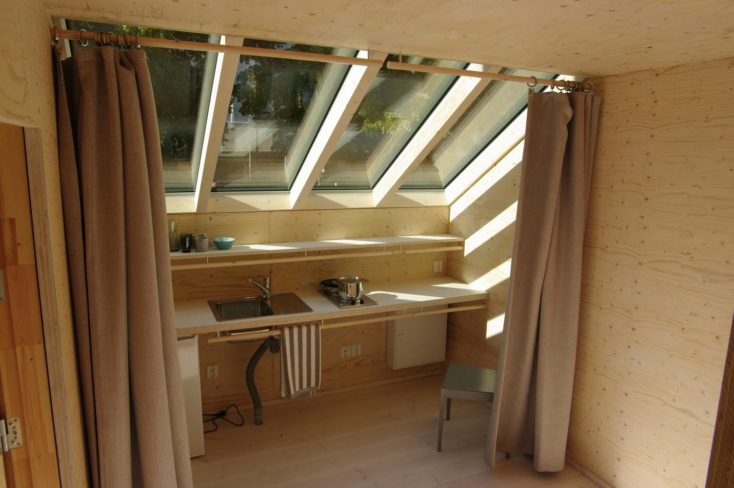 Interior de la vivienda prefabricada