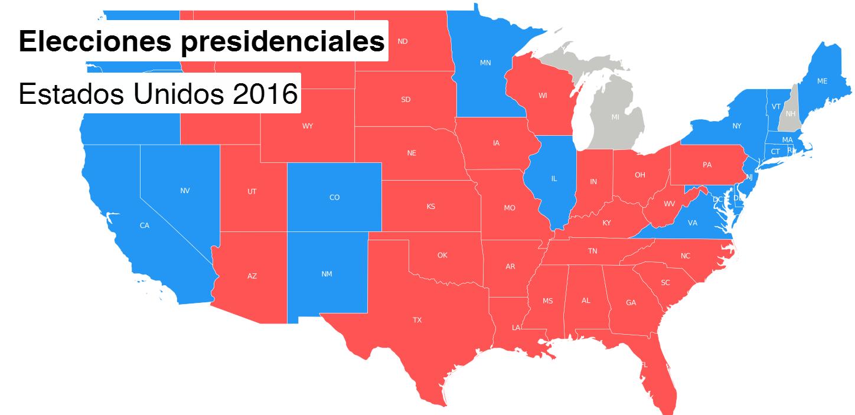 resultado elecciones presidenciales EE.UU.