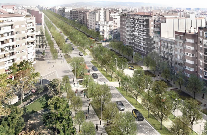 Este sería el aspecto favorito del Ayuntamiento de Barcelona para la nueva Meridiana, opción 4.