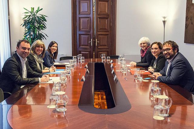 Los seis alcaldes reunidos. Fuente: Ajuntament de Barcelona