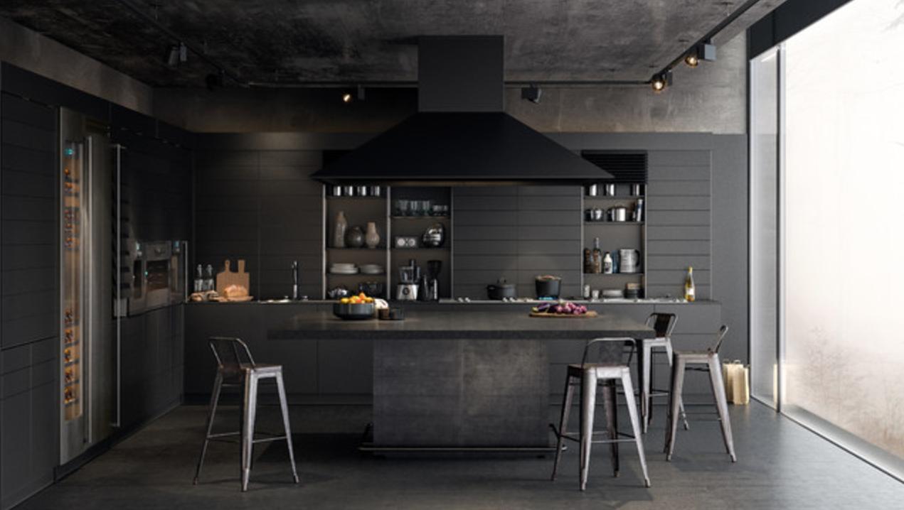 Resultado de imagen para cocina pintada de negro