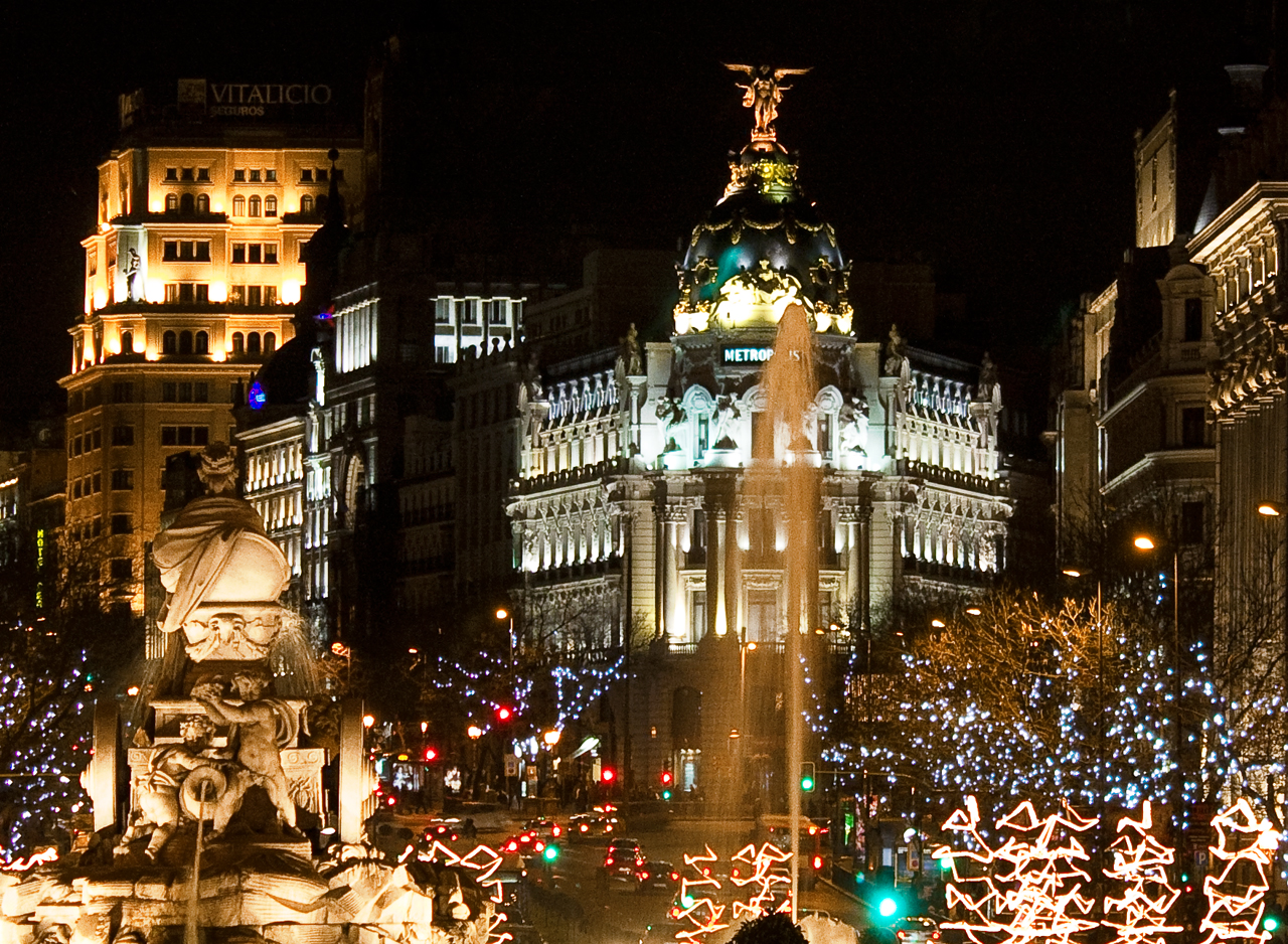 Luces de navidad - Madrid / Creative commons