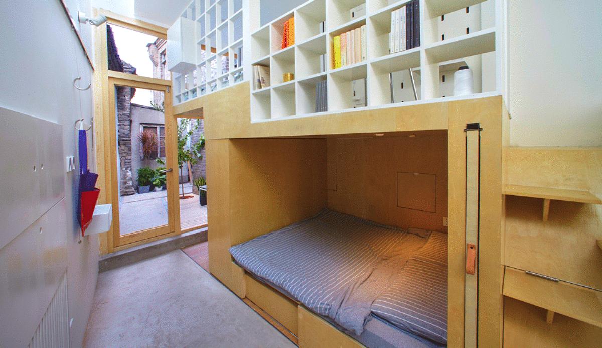 La casa mejor aprovechada del mundo mide solo 40 m2 pero for Hogar del mueble ingenio
