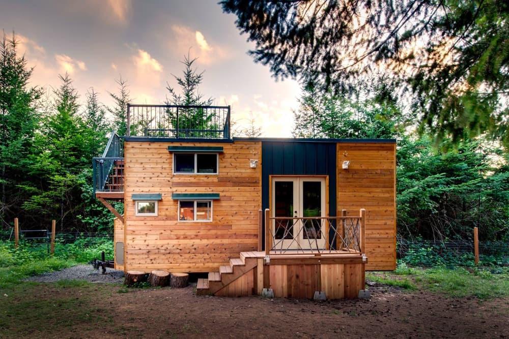 Una 'mini-casa' de 18 m2 en la que caben dos esquiadores y tres perros