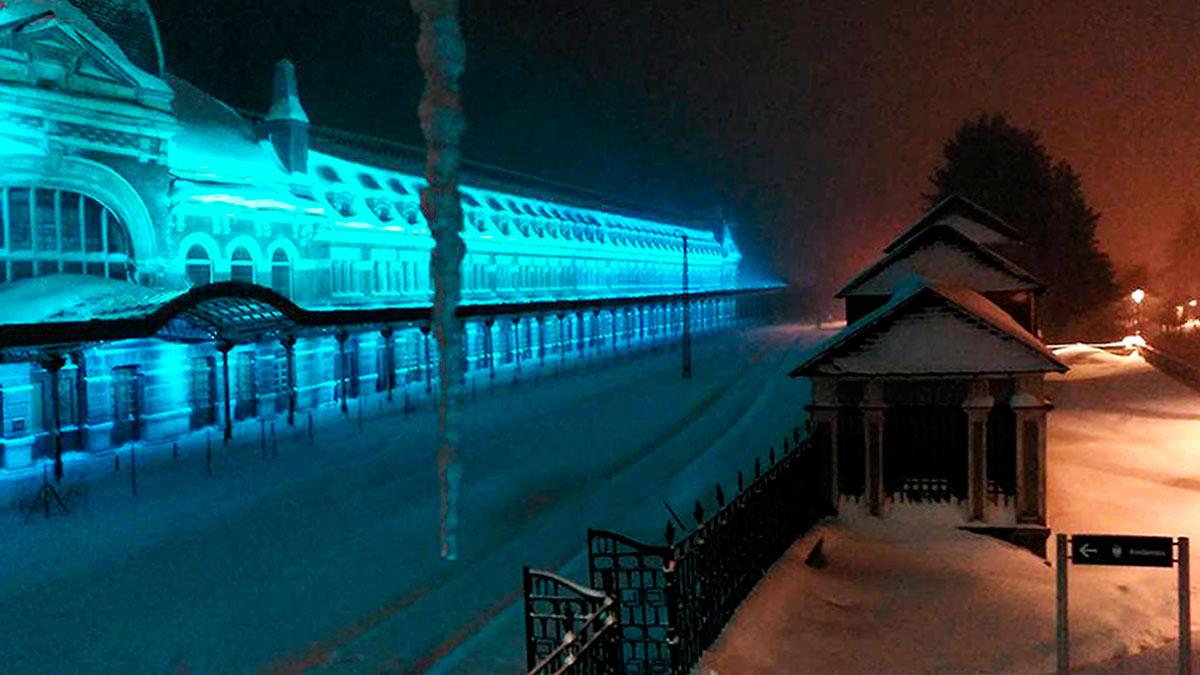 La luminosa estación de Canfrac