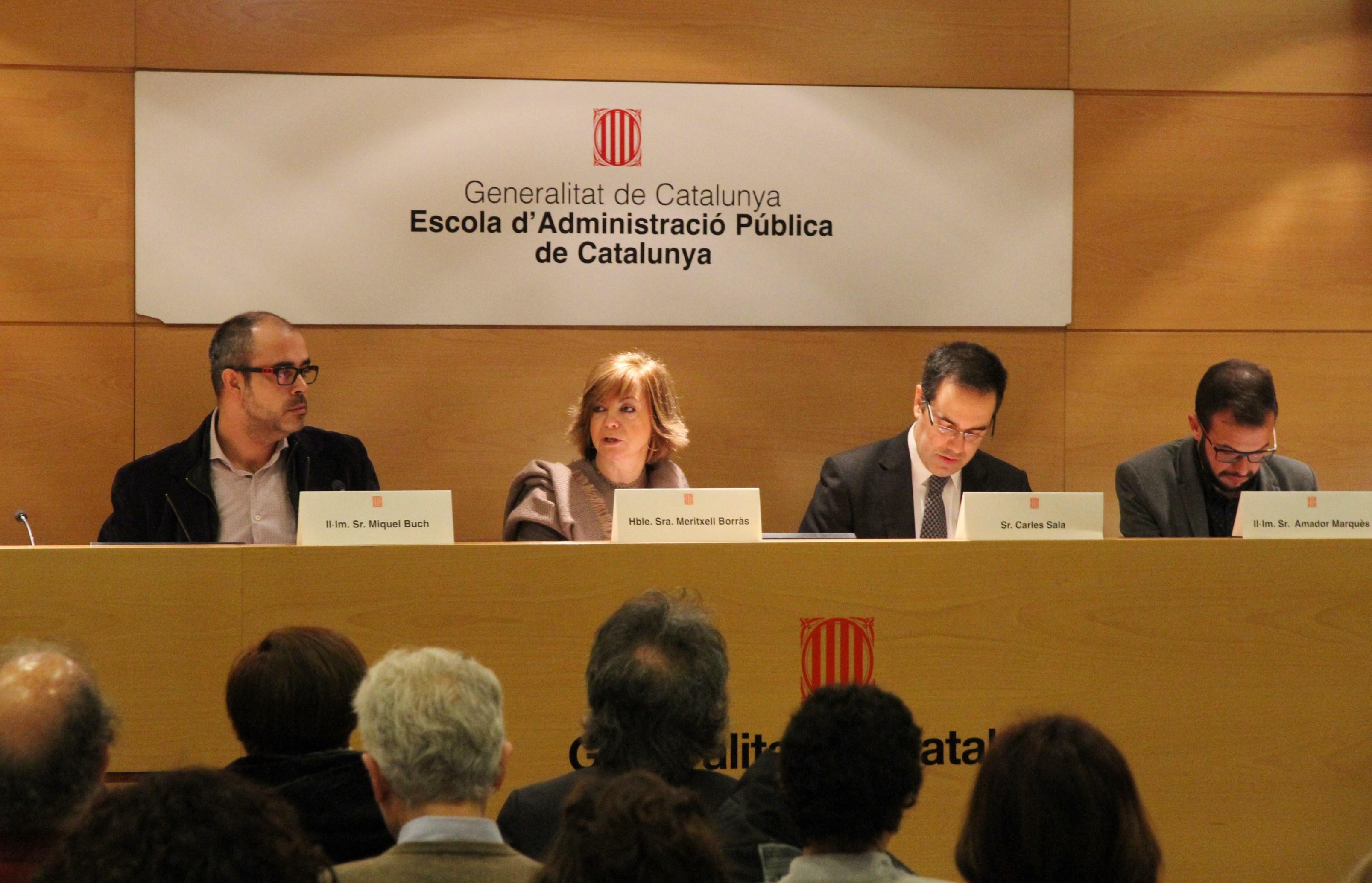 La consellera de Vivienda, Meritxell Borràs, en la jornada de formación de la ley 4/2016 / Generalitat de Catalunya
