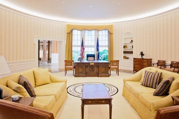 Recepción de GitHub (San Francisco/EEUU), una réplica del Despacho Oval de la Casa Blanca