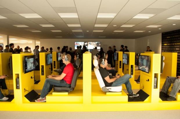 Sala de videojuegos de Activision Blizzard, en Santa Mónica (Californa, EEUU)