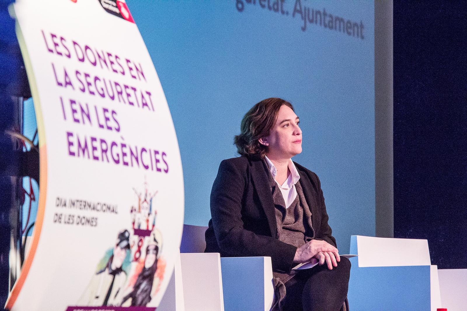 La alcaldesa de Barcelona, Ada Colau, en las pasadas jornadas del Día Internacional de la Mujer. / Ajuntament de Barcelona