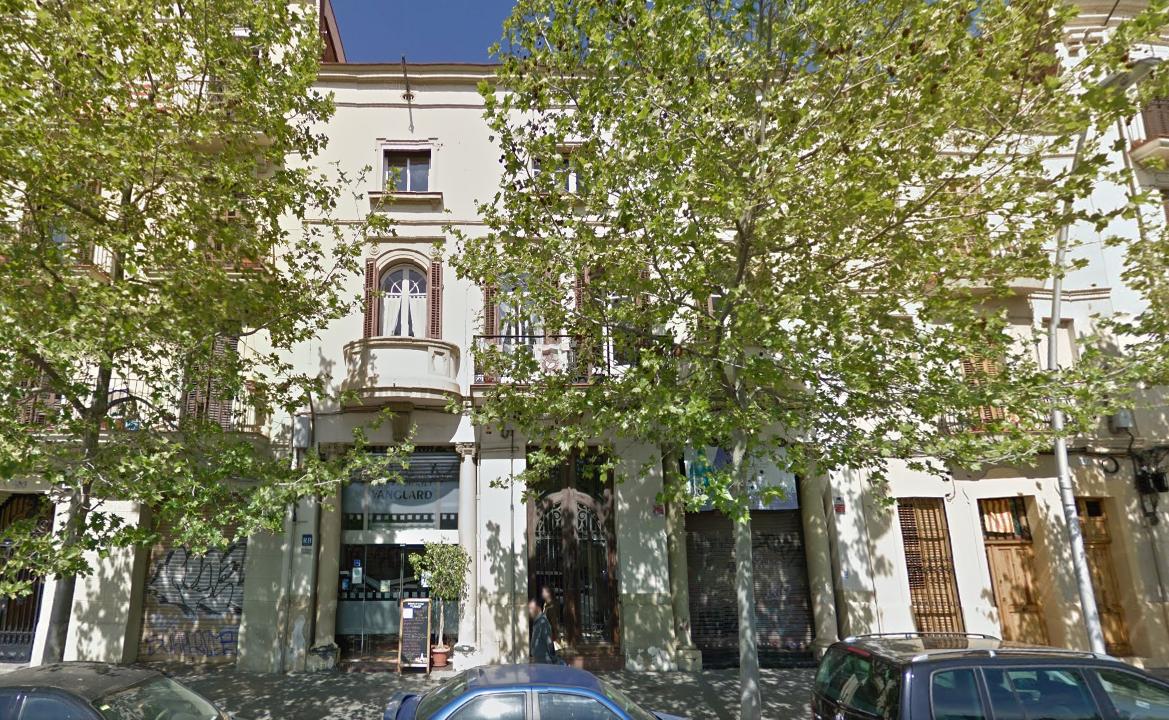 Los tres edificios de la calle Llull afectados / Google Maps