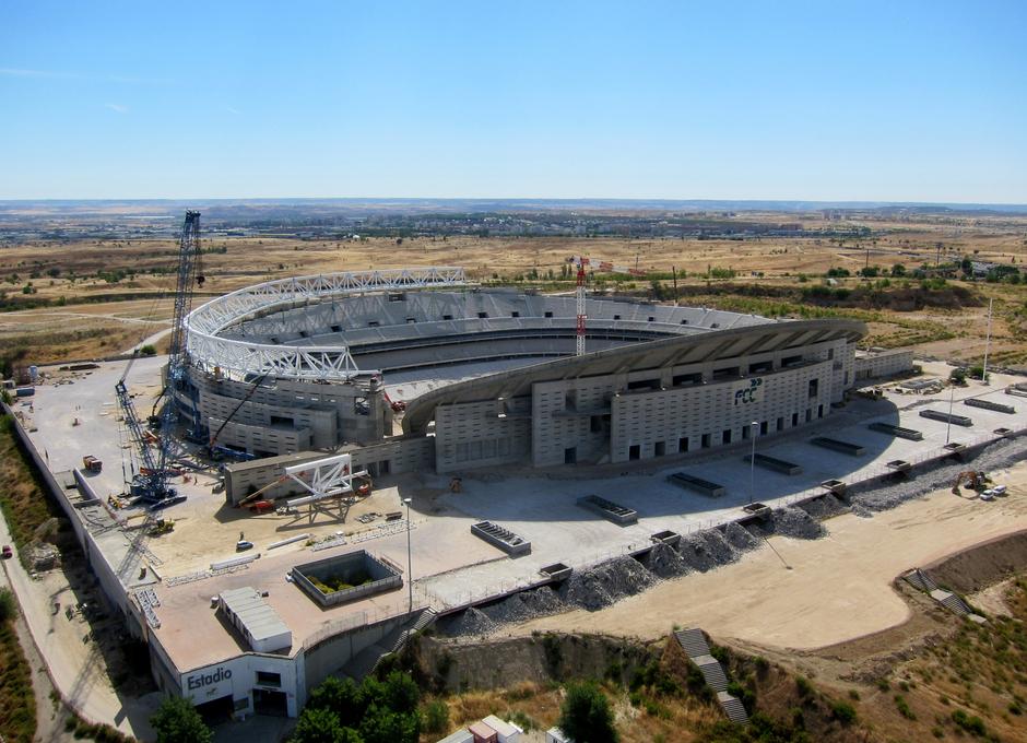 Construcción del nuevo estadio del Atlético de Madrid / FCC