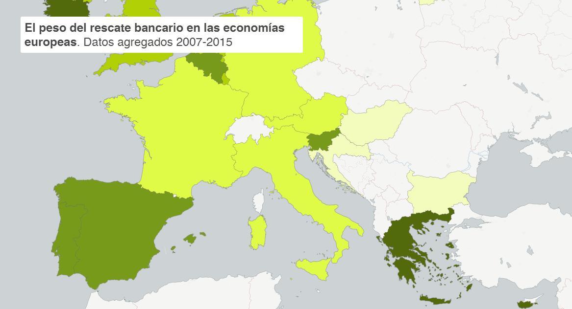 Las cuentas claras: éste ha sido el impacto real de los rescates bancarios en los países de la UE