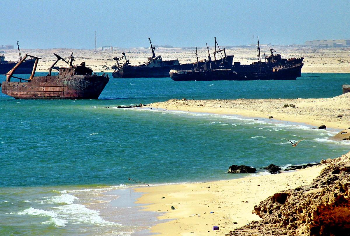 Cementerio de barcos en Nouadhibou (Mauritania). Flickr/Sebastián Losada