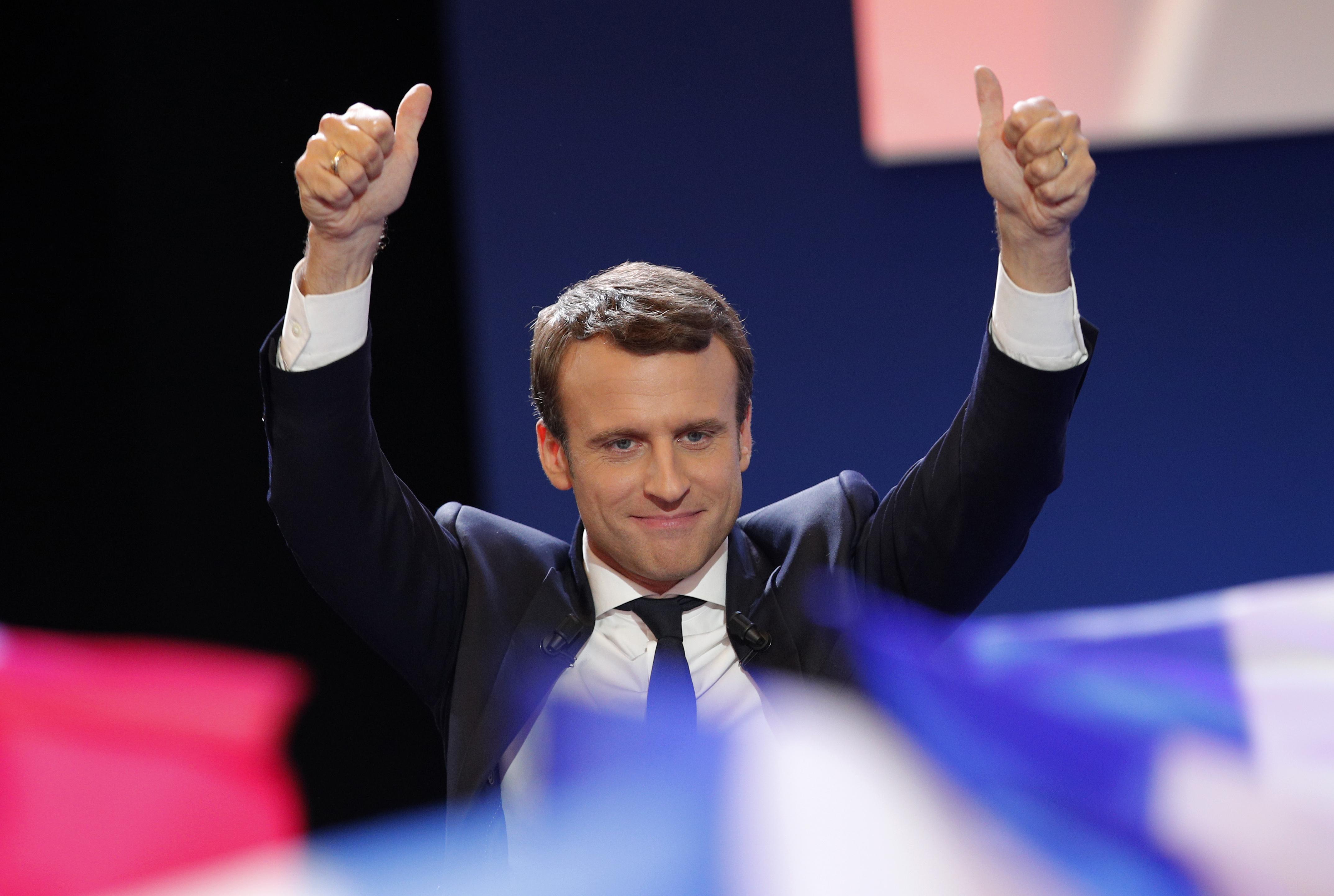 Emmanuel Macron vence la primera vuelta de las elecciones francesas