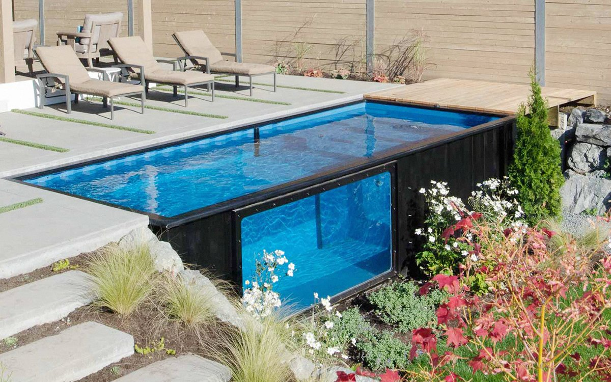 Piscinas en contenedores que se instalan en solo unos for Empresas de piscinas