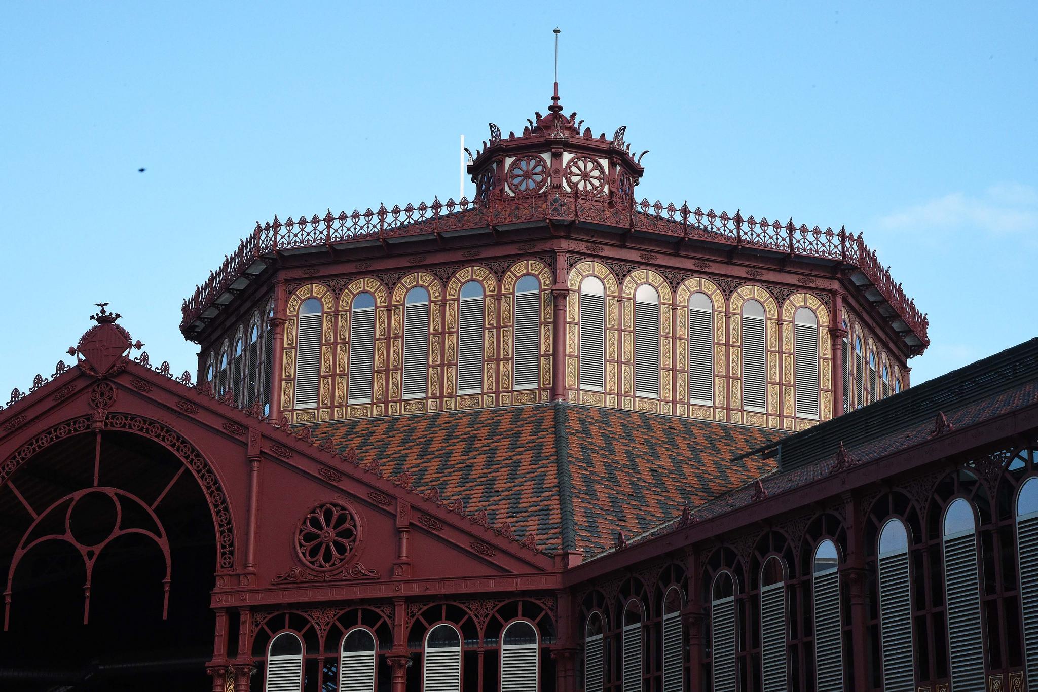 El mercado de Sant Antoni encara su último año de obras. / Ajuntament de Barcelona