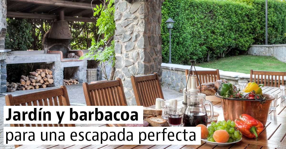 Para casas para casas with para casas perfect vista - Jardin con barbacoa ...