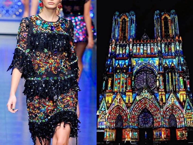 Dolce & Gabbana S/S 2012 | Catedral Notre-Dame de Reims