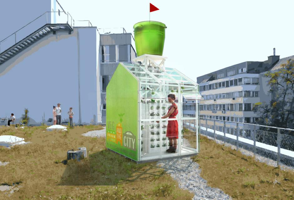 Un puesto urbano para la cosecha