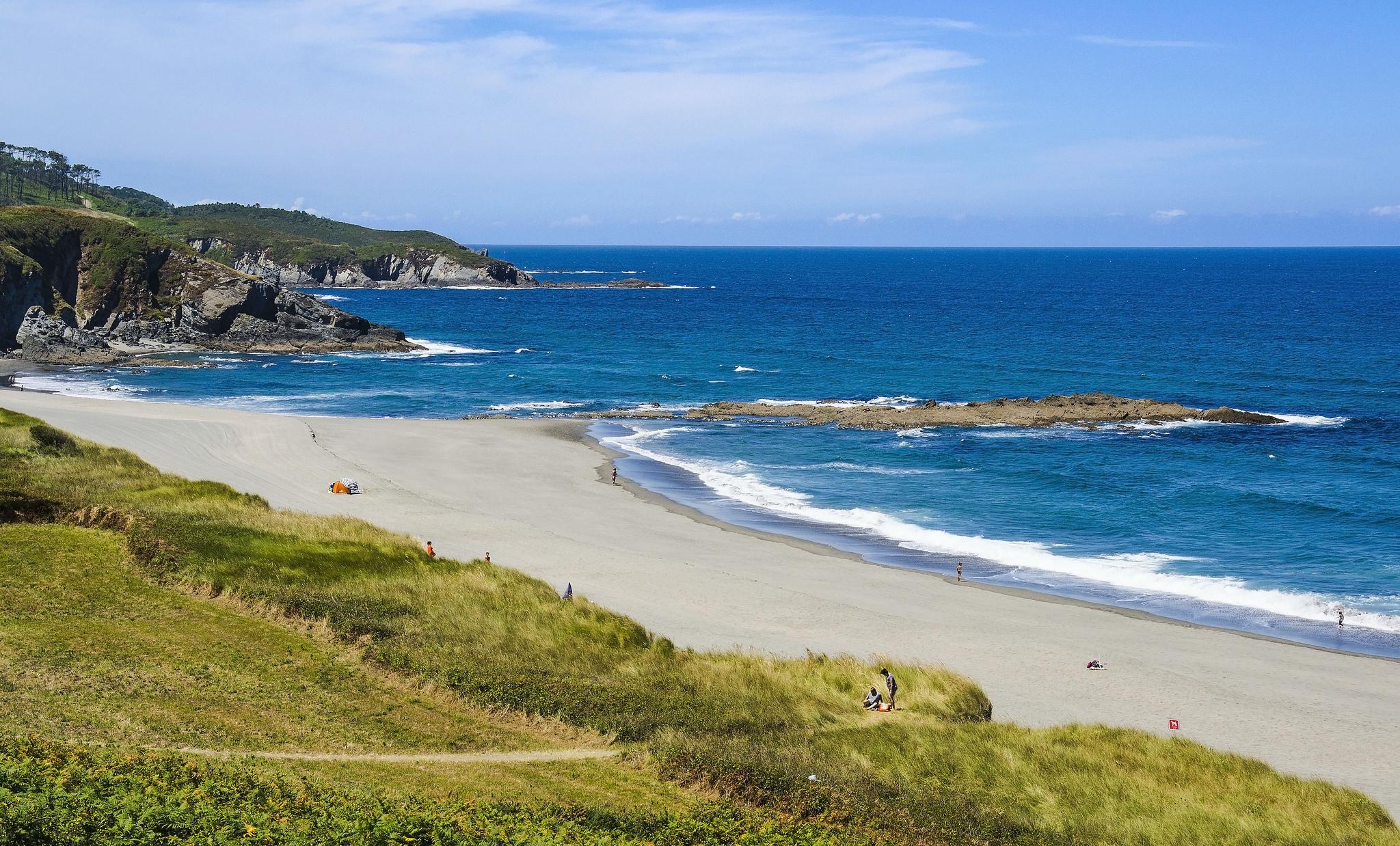Playa Frejulje en Asturias